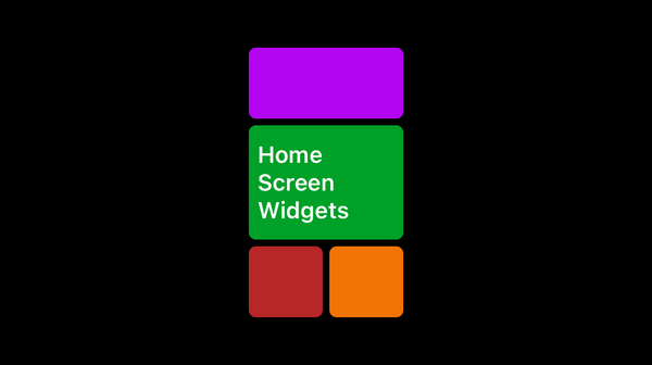 Build home screen widgets in iOS14
